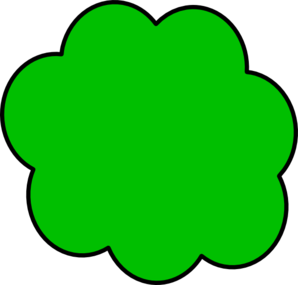 Green Cloud Clip Art