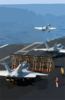 F/a-18 Hornets Assigned To Carrier Air Wing Three (cvw-3) Launch From The Flight Deck Of Uss Harry S. Truman (cvn 75). Clip Art