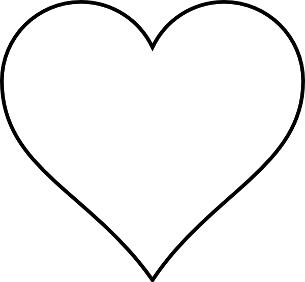 Line Art Heart Outline : Line art heart white clip at clker vector