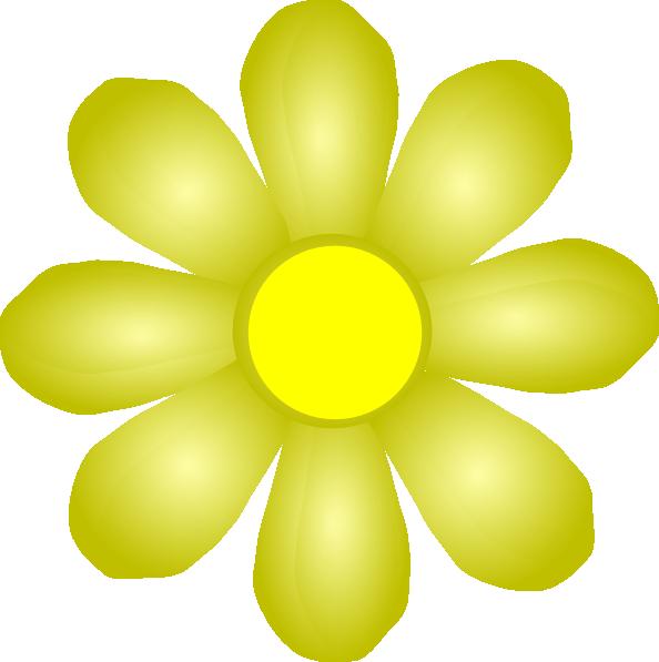 Yellow Flower Clip Art at Clker.com - vector clip art ...