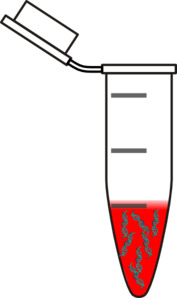 Eppendorf With Blood Dna Clip Art