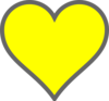 Yellow And Grey Heart Clip Art