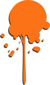 Orange Paint Drip Clip Art