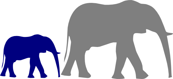 mother and baby elephant clip art at clkercom vector