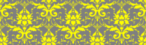 Damask Light Gray And Yellow Clip Art