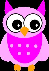 Cute Pink Owl Clip Art At Clker Com Vector Clip Art