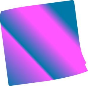 Shaded Blue Pinkn Sticky Note Clip Art