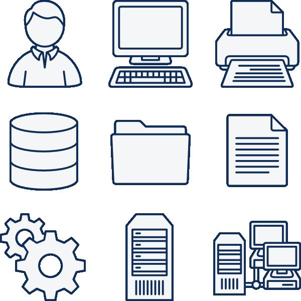 Network Symbols Clip Art : Comptuer network icons clip art at clker vector