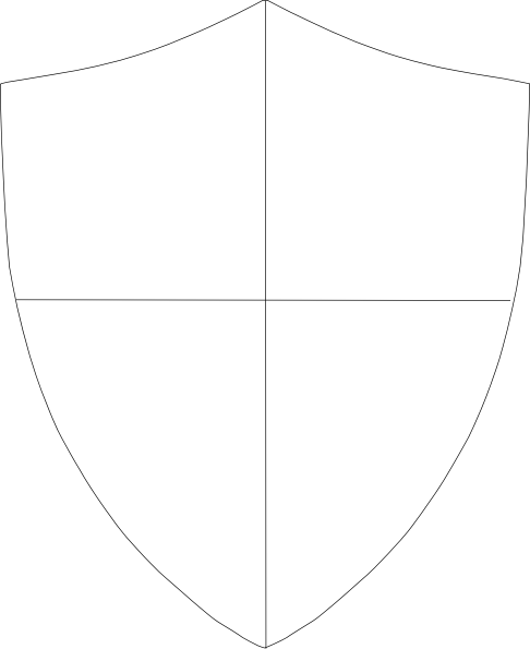 Shield template 288 clip art at vector clip for Blank shield template printable