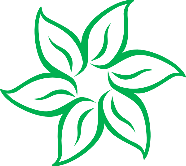 free green flower clipart - photo #27