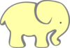 Bigger Yellow Elephant Clip Art