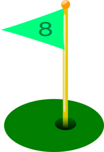 Golf Flag 8th Hole Clip Art