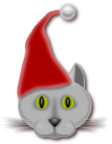 christmas cat clip art at clker com vector clip art online rh clker com christmas cat clipart free christmas kitty clipart