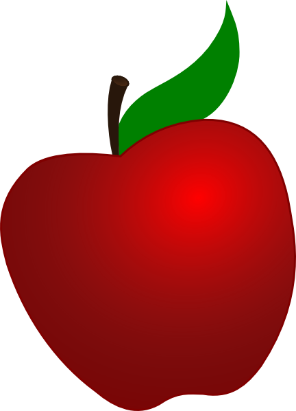 Red Apple With Leaf Clip Art at Clker.com - vector clip ...