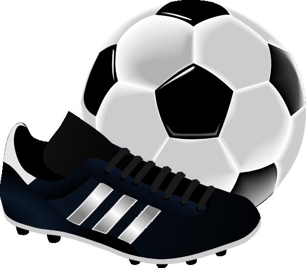 Soccer Ball And Shoe Clip Art at Clker.com - vector clip art online ...
