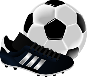 Soccer Ball And Shoe Clip Art
