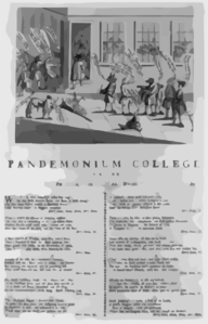 Pandemonium College, Or The Battle Of The Bulls, Bears, And Lame Ducks, As Fought In  C--ge- Alley Clip Art