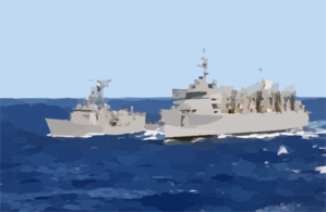 The Fast Combat Support Ship Uss Sacramento (aoe 1) Conducts An Underway Replenishment (unrep). Clip Art
