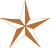 Arizona Copper Star Clip Art