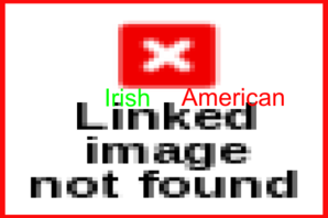 Irish American Flag With Title Clip Art