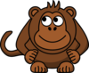 Monkey Looking Left-up Clip Art