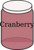 Cranberry Baby Jar Clip Art