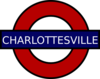 Charlottesville Tube Sign Clip Art