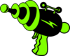 Ray Gun Green And Black No Shadow Clip Art