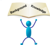 Blue Stick Man Knowledge Clip Art