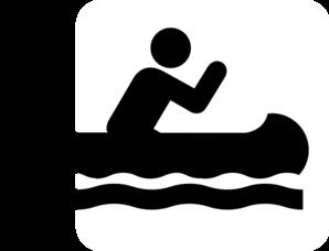 Canoe Acsess Black Clip Art at Clker.com - vector clip art online ...