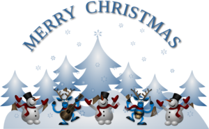 Merry Christmas Card Front Clip Art