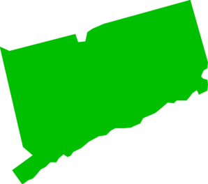 Green Connecticut State Clip Art