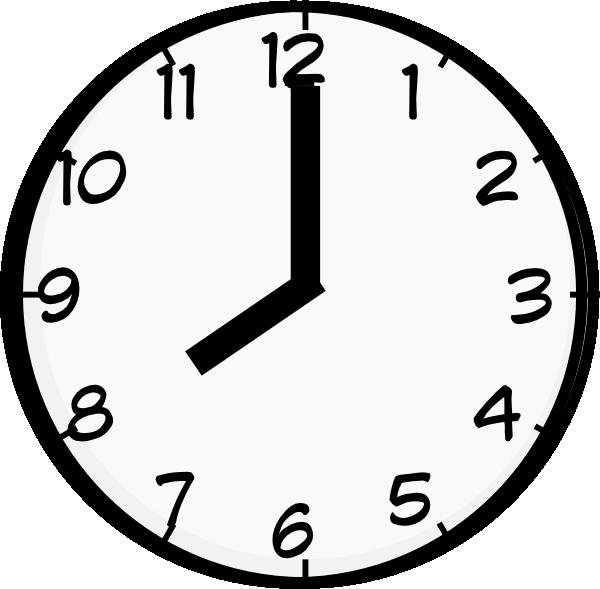 8 O Clock Clip Art at Clker.com - vector clip art online, royalty free & public domain