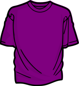 Purple T Shirt Clip Art