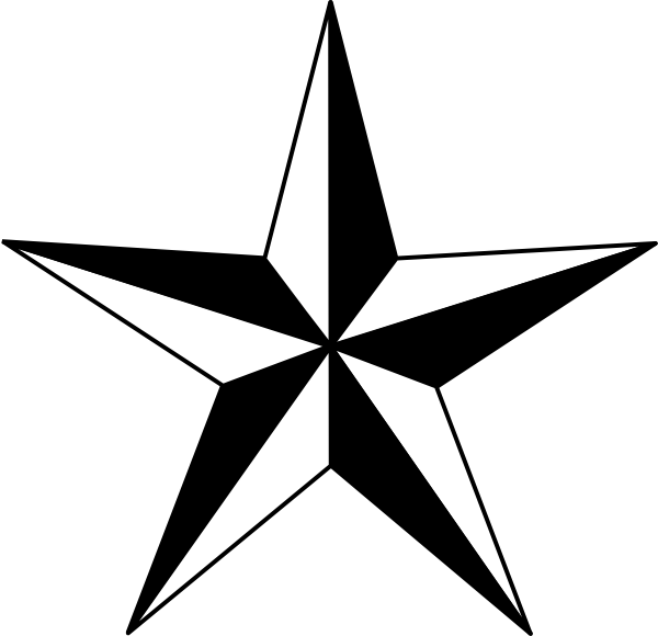 black and white star clip art - photo #34