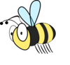 Bee Plain Clip Art