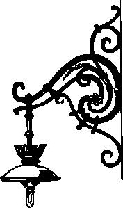 Antique Decorative Outdoor Electric Lamp Clip Art