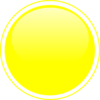 Glossy Yellow Circle Button Clip Art