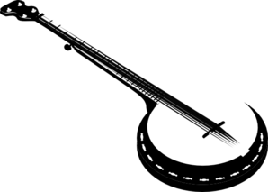 5 String Banjo Clip Art at Clker.com - 12.1KB