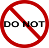 Do Not Sign Clip Art