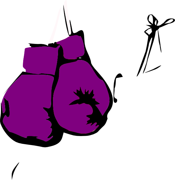 Dina, Purple, Boxing Gloves Clip - 40.1KB