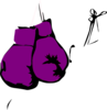Dina, Purple, Boxing Gloves Clip Art