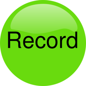Record Audio Pressed Clip Art