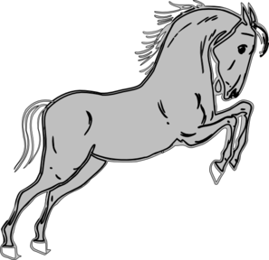 grey jumping horse clip art at clker com vector clip art online rh clker com clipart of a horse black and white clipart of a house