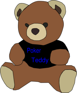 Poker Teddy Clip Art