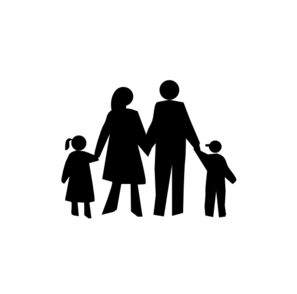 family in black clip art at clker com vector clip art online rh clker com family vector free download family vector png