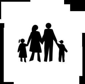 family in black clip art at clker com vector clip art online rh clker com clipart family reunion free family dinner clipart free