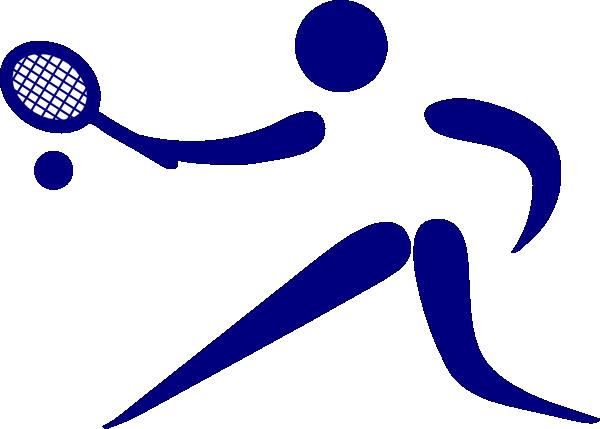 Blue Tennis Player Clip Art at Clker.com - vector clip art online ...