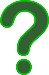 Dark Green Question Mark Clip Art