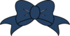 Dark Blue Bow Clip Art